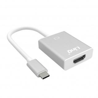 LinQ USB-C auf 4K HDMI Video Adapter 15 cm grau