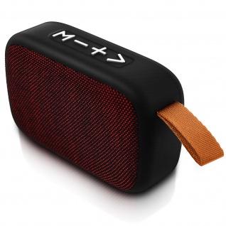 F4276 Bluetooth kabelloser BTS Lautsprecher mit Mikrofon - Rot