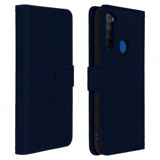 Flip Cover Geldbörse, Klappetui Kunstleder für Xiaomi Redmi Note 8T â€? Dunkelblau