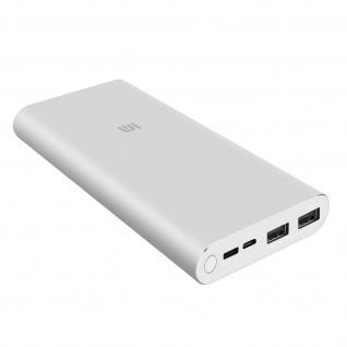 Powerbank 3 by Xiaomi, 10.000mAh mit Micro-USB / USB-C / USB-Ports - Silber