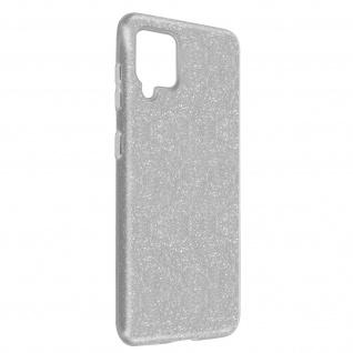 Schutzhülle, Glitter Case Samsung Galaxy A42 5G, shiny & girly Hülle â€? Silber