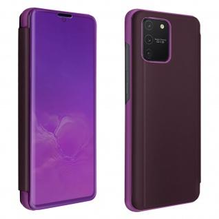 Samsung Galaxy S10 Lite Flip Cover mit Spiegeleffekt & Standfunktion - Violett