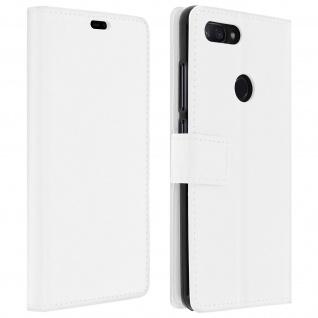Xiaomi Mi 8 Lite Flip-Cover mit Kartenfächern & Standfunktion - Weiß