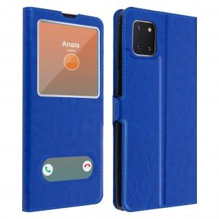 Samsung Galaxy Note 10 Lite Flip Cover Doppelfenster & Standfunktion � Blau