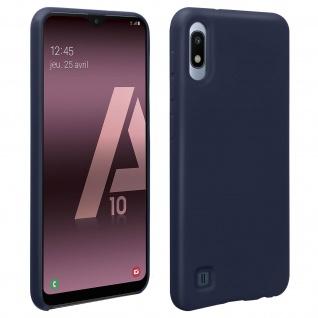 Halbsteife Silikon Handyhülle Samsung Galaxy A10, Soft Touch - Dunkelblau