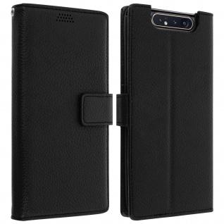 Samsung Galaxy A80 Flip-Cover mit Kartenfächern & Standfunktion - Schwarz