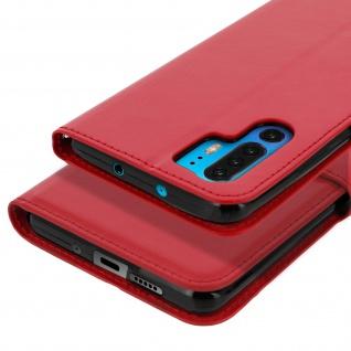 Flip Stand Cover Brieftasche & Standfunktion für Huawei P30 Pro - Rot - Vorschau 5