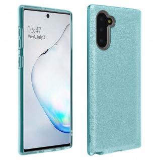 Schutzhülle, Glitter Case für Samsung Galaxy Note 10, shiny & girly Hülle - Blau