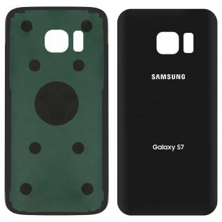 Ersatzteil Akkudeckel, neue Rückseite für Samsung Galaxy S7 - Schwarz