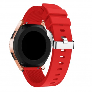 Silicone Armband mit Streifen für Samsung Galaxy Watch 42 mm ? Rot