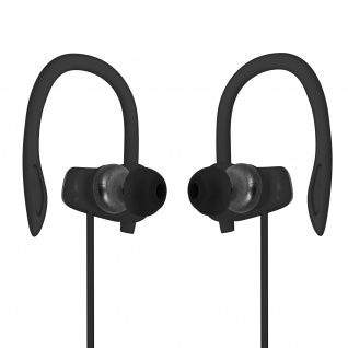 Sport Running Kopfhörer mit Ohrbügel, 3.5mm Klinkenkabel, LinQ ? Schwarz