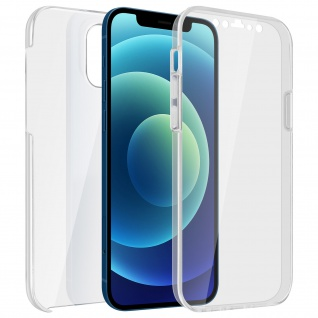 Schutzhülle für Apple iPhone 12 Mini, Vorder- + Rückseite ? Transparent
