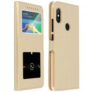 Xiaomi Note 5, Klappetui mit Doppelfenster & Standfunktion ? Gold