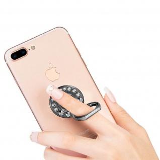 Ring Halterung für Smartphones, Crystal Strass 360° Ständer - Schwarz
