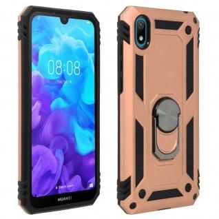 Hybrid Handyhülle mit Ring Halterung für Huawei Y5 2019, Honor 8S - Rosegold