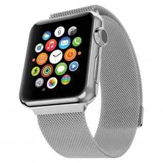 Apple Watch 42 / 44mm Milanaise Armband, Edelstahl Armbanduhr ? Silber
