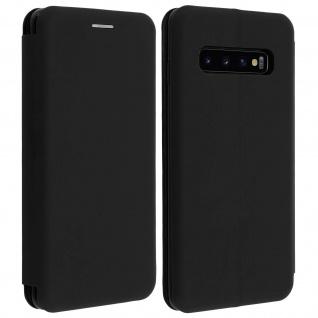 Soft Touch Cover Samsung Galaxy S10, Kartenfach und Standfunktion - Schwarz