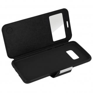 Flip-Schutzhülle mit Sichtfenster für Samsung Galaxy S8 - Schwarz