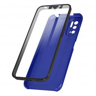 Schutzhülle für Xiaomi Redmi Note 10 5G, Vorder- + Rückseite ? Blau