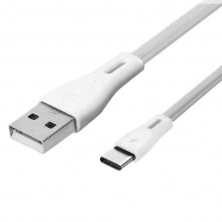 USB auf USB-C Flachkabel Aufladen / Synchronisieren 2.1A Remax - Weiß