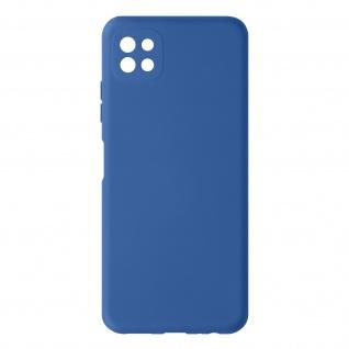Halbsteife Silikon Handyhülle für Samsung Galaxy A22 5G, Soft Touch ? Dunkelblau