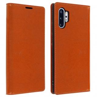 Business Leder Cover, Schutzhülle mit Geldbörse Galaxy Note 10 Plus - Kupfer