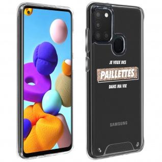 """Handyhülle für Samsung Galaxy A21s, Made in France ? """" Paillettes"""" Design"""