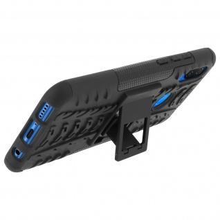 Stoßfeste Schutzhülle + Standfunktion für Huawei P Smart Plus - Schwarz - Vorschau 5