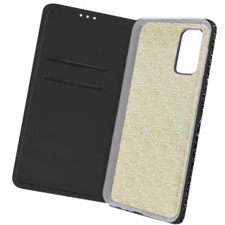 Glitter Klapphülle, Glitzernde Handyhülle für Samsung Galaxy A32 5G â€? Schwarz