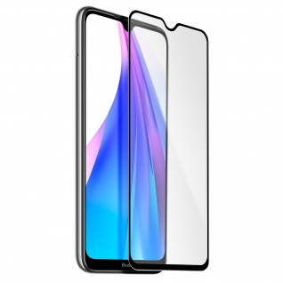 9H Härtegrad kratzfeste Glas-Displayschutzfolie Xiaomi Redmi Note 8T - Schwarz