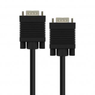 Stecker-Stecker, VGA-Kabel, 3m LinQ Video-Adapter Schwarz