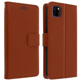 Huawei Y5p Flip-Cover mit Kartenfächern & Standfunktion - Braun