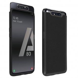 Schutzhülle, Glitter Case für Samsung Galaxy A80, shiny & girly Hülle - Schwarz