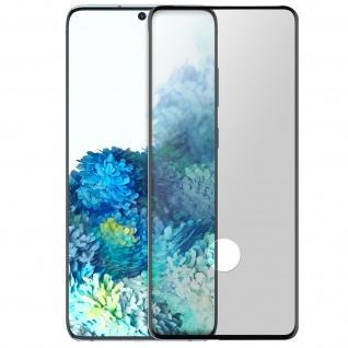 Premium Panzerglas Schutzfolie für Samsung Galaxy S20 Plus - Rand Schwarz