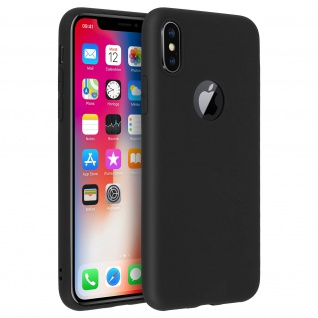 Forcell Apple iPhone X Soft Touch Silikonhülle, soft case - Schwarz