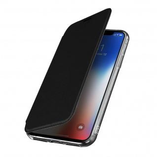 Spiegel Hülle, dünne Klapphülle für Apple iPhone X , Apple iPhone XS - Schwarz - Vorschau 1
