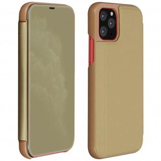 Apple iPhone 11 Pro Flip Cover mit Spiegeleffekt & Standfunktion - Gold
