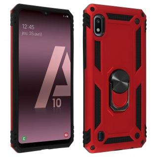 Hybrid Handyhülle mit Ring Halterung für Samsung Galaxy A10 - Rot