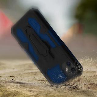 Stoßfeste Handyhülle Apple iPhone 11, mit Gürtelclip und Ständer ? Blau - Vorschau 3