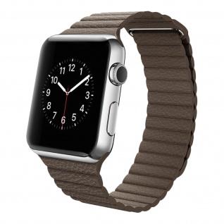 Apple Watch 42 / 44mm Premium-Leder Armband, Lederarmband ? Schokoladenbraun