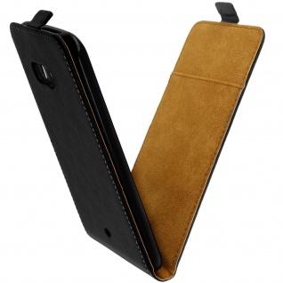 HTC U11 Flip-Schutzhülle mit unverbrüchlicher Hartschale - Schwarz - Vorschau 3