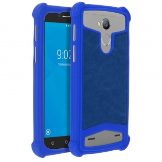 Universal Schutzhülle aus Silikon für Smartphones 5.3'' bis 5.5'' - Blau