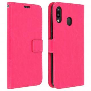 Flip Stand Cover Brieftasche & Standfunktion für Samsung Galaxy M20 - Rosa