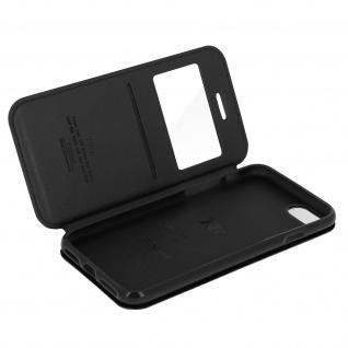 Roar Flip-Cover Brieftaschen Stil für Apple iPhone 7 und 8 - Schwarz