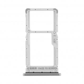 1x SIM + 1x Micro-SD Kartenhalter Ersatzteil für Xiaomi Redmi Note 8 Pro - Weiß