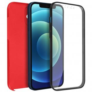 Schutzhülle für Apple iPhone 12 Mini, Vorder- + Rückseite ? Rot