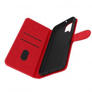 Klappetui mit Geldbörse, Kunstlederhülle für Samsung Galaxy A22 ? Rot