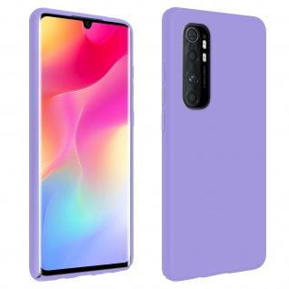 Halbsteife Silikon Handyhülle Xiaomi Mi Note 10 Lite, Soft Touch - Violett