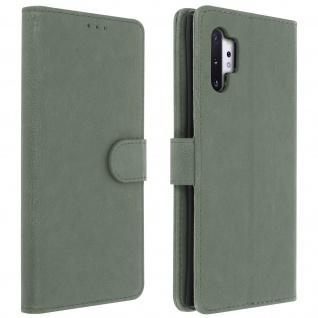 Flip Cover Geldbörse, Klappetui Kunstleder Samsung Galaxy Note 10 Plus - Grau