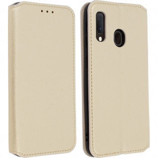 Kunstleder Cover Classic Edition Samsung Galaxy A20e - Gold
